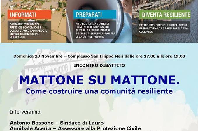 """Lauro, """"Mattone su mattone"""": l'Ordine degli Psicologi col Comune e la CRI per la Resilienza Lauro."""
