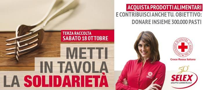 """CRI Avellino e Gruppo Selex: al via la raccolta alimentare """"Metti in tavola la solidarietà"""" Avellino."""